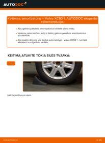 Kaip atlikti keitimą: 2.4 D5 Volvo XC90 1 Amortizatorius