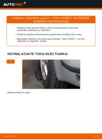 Kaip atlikti keitimą: 2.4 D5 Volvo XC90 1 Amortizatoriaus Atraminis Guolis