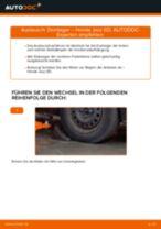 Domlager wechseln HONDA JAZZ: Werkstatthandbuch