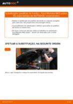 Como mudar e ajustar Calços de travão FORD MONDEO: tutorial pdf