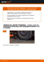 Смяна на Комплект спирачни дискове на HONDA JAZZ: безплатен pdf