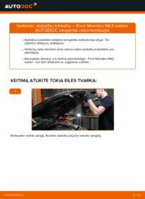 Kaip atlikti keitimą: 2.0 TDCi Ford Mondeo mk3 Sedanas Stabdžių Kaladėlės