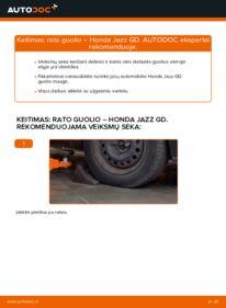 Kaip atlikti keitimą: 1.3 (GD1) Honda Jazz gd Rato guolis