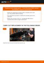 Changing Brake Pads FORD MONDEO: workshop manual