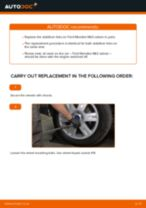 Online manual on changing Sway bar yourself on BMW X3 F25