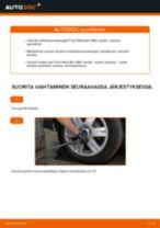 Kuinka vaihtaa koiranluu taakse Ford Mondeo Mk3 sedan-autoon – vaihto-ohje