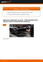 Kdaj zamenjati Vzigalna tuljava FORD MONDEO III Saloon (B4Y): pdf navodila