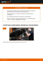 Samm-sammuline PDF-juhend FORD MONDEO III Saloon (B4Y) Piduriketas asendamise kohta