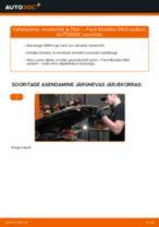 Samm-sammuline PDF-juhend FORD MONDEO III Saloon (B4Y) Õlifilter asendamise kohta