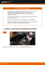 Elülső féktárcsák-csere Ford Mondeo Mk3 sedan gépkocsin – Útmutató