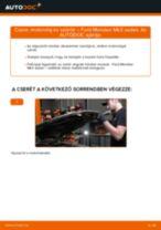 Cseréljünk Fékdob FORD MONDEO: felhasználói kézikönyv