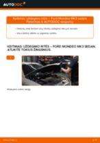 Kaip pakeisti Ford Mondeo Mk3 sedan uždegimo ritės - keitimo instrukcija