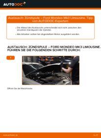 Wie der Wechsel durchführt wird: Zündspule 2.0 TDCi Ford Mondeo mk3 Limousine tauschen