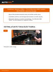 Kaip atlikti keitimą: 2.0 TDCi Ford Mondeo mk3 Sedanas Alyvos filtras