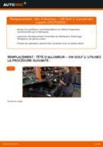 Comment changer : tête d'allumeur sur VW Golf 2 - Guide de remplacement