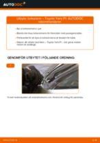 Vindruterengöring byta och reparationsmanual med illustrationer