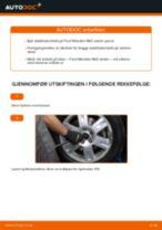 Slik bytter du stabilisatorstag fremme på en Ford Mondeo Mk3 sedan – veiledning