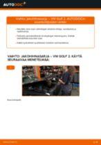 Kuinka vaihtaa jakohihnasarja VW Golf 2-autoon – vaihto-ohje