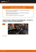 Como mudar e ajustar Polia de desvio / de guia, correia dentada VW GOLF: tutorial pdf