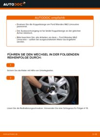 Wie der Wechsel durchführt wird: Koppelstange 2.0 TDCi Ford Mondeo mk3 Limousine tauschen