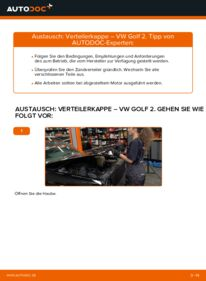 Wie der Wechsel durchführt wird: Verteilerkappe 1.8 GTI Golf 2 tauschen