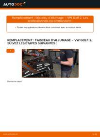 Comment effectuer un remplacement de Faisceau d'Allumage sur 1.8 GTI VW GOLF II (19E, 1G1)