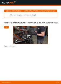 Så byter du Tändkablar på 1.8 GTI VW GOLF II (19E, 1G1)