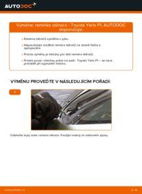 Jak provést výměnu: Ramínko Stěrače na 1.0 (SCP10_) Toyota Yaris p1