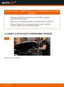 Hogyan végezze a cserét: BMW 5 SERIES Vízhűtő