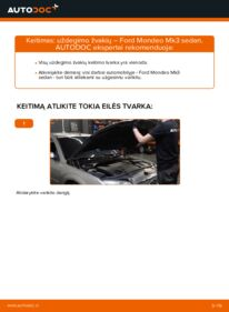 Kaip atlikti keitimą: 2.0 TDCi Ford Mondeo mk3 Sedanas Uždegimo žvakė