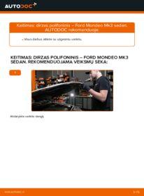 Kaip atlikti keitimą: 2.0 TDCi Ford Mondeo mk3 Sedanas V formos rumbuotas diržas