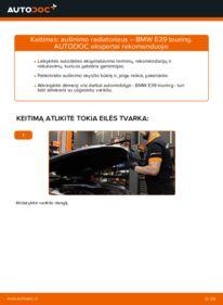 Kaip atlikti keitimą: 530d 3.0 BMW E39 Touring Aušinimo radiatoriai