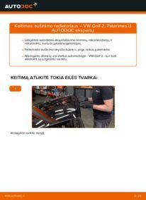 Kaip atlikti keitimą: 1.8 GTI VW GOLF II (19E, 1G1) Aušinimo radiatoriai