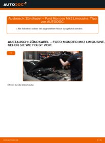 Wie der Wechsel durchführt wird: Zündkabel 2.0 TDCi Ford Mondeo mk3 Limousine tauschen