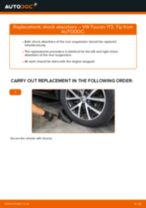 How to change rear shock absorbers on VW Touran 1T3 – replacement guide