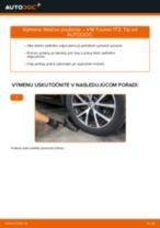 Ako vymeniť zadné tlmiče pruženia na VW Touran 1T3 – návod na výmenu