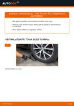 Kaip pakeisti VW Touran 1T3 amortizatorių: galas - keitimo instrukcija