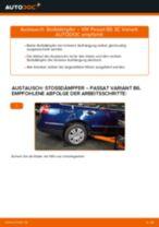 Stoßdämpfer hinten und vorne VW Passat Variant (3C5) 2000 | PDF Anleitung zum Wechsel