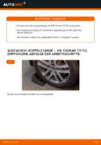 Wie VW Touran 1T1 1T2 Koppelstange hinten wechseln - Schritt für Schritt Anleitung