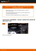 Wie VW Passat 3C B6 Variant Federbein vorne wechseln - Schritt für Schritt Anleitung