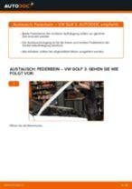 Wie VW Golf 3 Federbein vorne wechseln - Anleitung