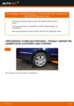 Hoe stabilisatorstang achteraan vervangen bij een VW Passat 3C B6 Variant – vervangingshandleiding