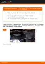 Hoe veerpoot vooraan vervangen bij een VW Passat 3C B6 Variant – vervangingshandleiding