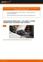 Hoe remklauw achteraan vervangen bij een VW Caddy 3 Kombi – Leidraad voor bij het vervangen