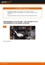 Vervang het Luchtfilter van de VW TOURAN (1T1, 1T2) met onze online pdf-handleiding