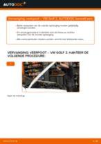 VW GOLF Stofhoes schokbreker & aanslagrubber vervangen: online instructies