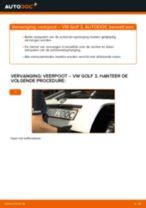 Hoe veerpoot achteraan vervangen bij een VW Golf 3 – Leidraad voor bij het vervangen