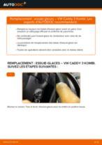 Comment changer : essuie-glaces avant sur VW Caddy 3 Kombi - Guide de remplacement