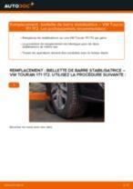 Tutoriel PDF étape par étape sur le changement de Biellette De Barre Stabilisatrice sur VW TOURAN (1T1, 1T2)