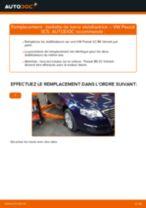 Comment changer : biellette de barre stabilisatrice avant sur VW Passat 3C B6 Variant - Guide de remplacement